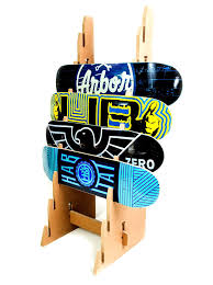 Skateboard Display Stand Skateboard Floor Stand Deck Display StoreYourBoard 2