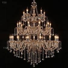 crystal chandelier large pendant lamp living room 3 layer project villa duplex staircase light chandelier pendant