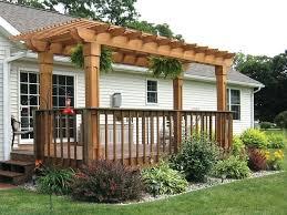 pergola attached to house outdoor pergolas plans free