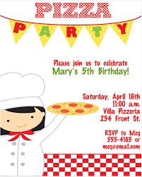 Pizza Party Invitation Templates Pizza Party Invitation For Invitations Your Party Invitation