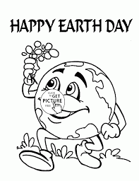 Earth Day Coloring Sheets To Print Cute Page For Kids Img Free