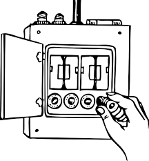 electrical fuse box clip art sketch coloring page view larger image image