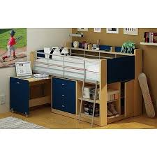 kids beds with storage. Plain With Kids Loft Twin Bed With Desk Bedroom Furniture Navy And Natural Throughout Beds With Storage