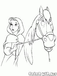 Disegni Da Colorare Belle E Il Cavallo