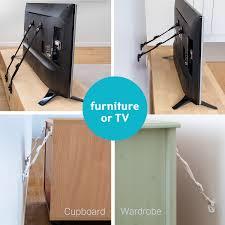 blacks furniture. Home\u003eBaby\u003eTatkraft Protect TV And Furniture Safety Straps 4 Pack, 2 Whites \u0026 Blacks E