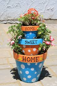 Home Sweet Home Tiered Flower Pot Planter