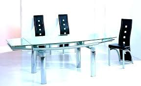 extendable glass table extendable glass dining table set expandable glass dining table contemporary expandable glass table