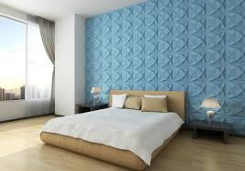 decorations bedroom interior wall design ocean blue abysmal 3d wall panels geometric circle and leaves