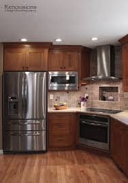 Kitchen Cupboards Lights Kitchen Remodel By Renovisions Induction Cooktop Stainless Steel