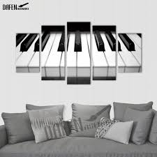 canvas print wall art piano keys hd printed music poster 5 pieces painting home decor wall on piano themed wall art with canvas print wall art piano keys hd printed music poster 5 pieces