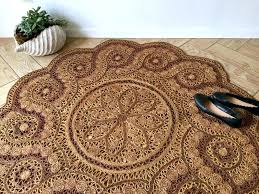 circular jute rug round ornate jute rug bohemian woven sisal area rug woven straw sisal round circular jute rug