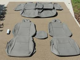 honda civic ex sedan leather seat covers interior seats 2006 2010 grey 1