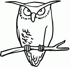Great Horned Owl Coloring Page