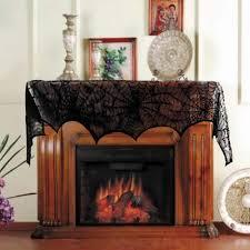 bat spider web lace table lamp fireplace cloth window curtain decor 46x244cm aliexpress mobile