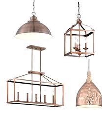 copper pendant light hammered kitchen lighting home decorating blog community regarding over island