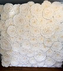 Paper Flower Backdrop Rental Work Love Paper