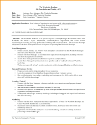 Store Manager Job Description Resume Technical Bulletin Template Word 75