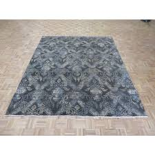 8 x 10 hand knotted chocolate brown ikat peshawar oriental rug g5201 oriental rug galaxy