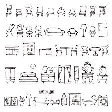 手描きのかわいい家具イラスト イラスト素材 5071629 フォトライブ