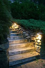 stairs lighting combining beauty and safety in denville nj area lighting flower bed