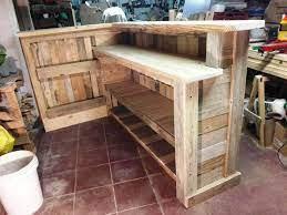 diy pallet bar with custom built in