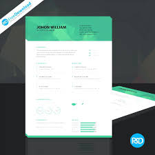 Editable Format Download Free Photoshop Resume Template – Scipion