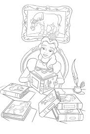Click a picture to begin coloring. Princess Belle Reading Book Coloring Pages Cartoon Coloring Pages Disney Coloring Pages Coloring Books