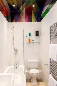 apartment therapy bathroom paint colors. dip a toe into bold color: painted ceilings in the bathroom apartment therapy paint colors