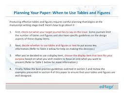 Research Tables How To Use Figures And Tables Effectively To Present Your