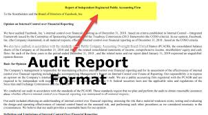 Audit Report Format Sample Format Of An Audit Report With