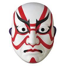 japanese for mask amazon com omatsuri land japanese kabuki mask sujiguma design toys