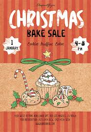 Bake Sale Flyer Templates Free Christmas Bake Sale Flyer