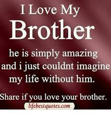 Brother Love Quotes Delectable I Love My Brother He Is Simply Amazing And I Just Couldnt Imagine My