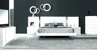 Contemporary Bedroom Sets White Leather Bedroo 1445 | ecobell.info