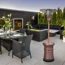 lava heat italia alto propane patio heater 48 000 btu outdoor propane heater with adjustable table propane
