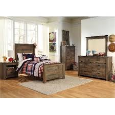 ... Rustic Casual Contemporary 6 Piece Twin Bedroom Set - Trinell