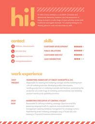 Marketing Assistant Resume Custom Orange Striped Marketing Assistant Creative Resume Templates By Canva