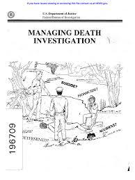 MANAGING DEATH INVESTIGATION