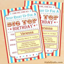 Circus Party Invitation Best Free Printable Circus Birthday Invitation Set And Good Invitation