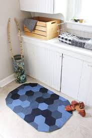 denim is one of the most durable fabrics made and also the easiest to find for projects such as this small space floor mat you can repurpose last year s