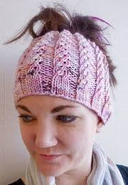 Knitted Bun Hat Pattern