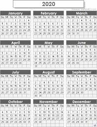2020 Calendar Printable With Us Holidays 2020 Calendar Templates And Images