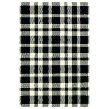 black and white plaid rug hand woven cotton black area rug black and white buffalo plaid