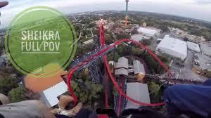 sheikra front row pov roller coaster busch gardens ta 1080p 60fps