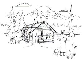 cabin on a lake coloring pages coloring panda log coloring pages log coloring pages
