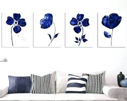 wall arts framed floral wall art sets set of 2 prints 4 piece navy blue on framed blue wall art set with wall arts framed floral wall art set of 3 abstract mint green