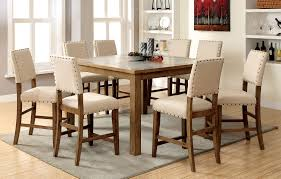 Stone Top Kitchen Table Counter Height Table And Chair Sets American Attitude Upholstered