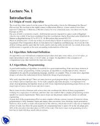 Machine Design 1 Notes Introduction Of Algorithm Design And Analysis Study
