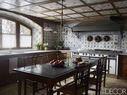 Rustic kitchens designs Open Concept Elle Decor 25 Rustic Kitchen Decor Ideas Country Kitchens Design