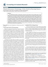 Pdf Health Information Technology A New World Of Nursing Homes